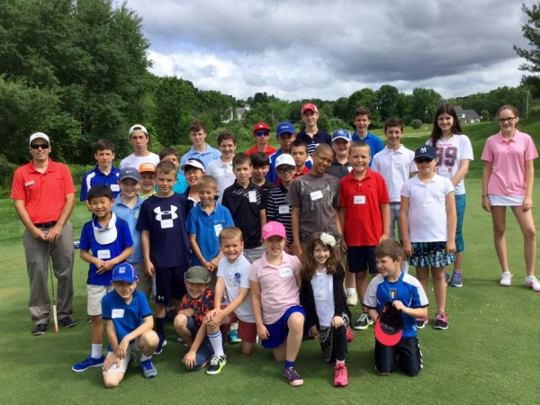 Centennial Golf Club Junior Camp participants pose for a picture